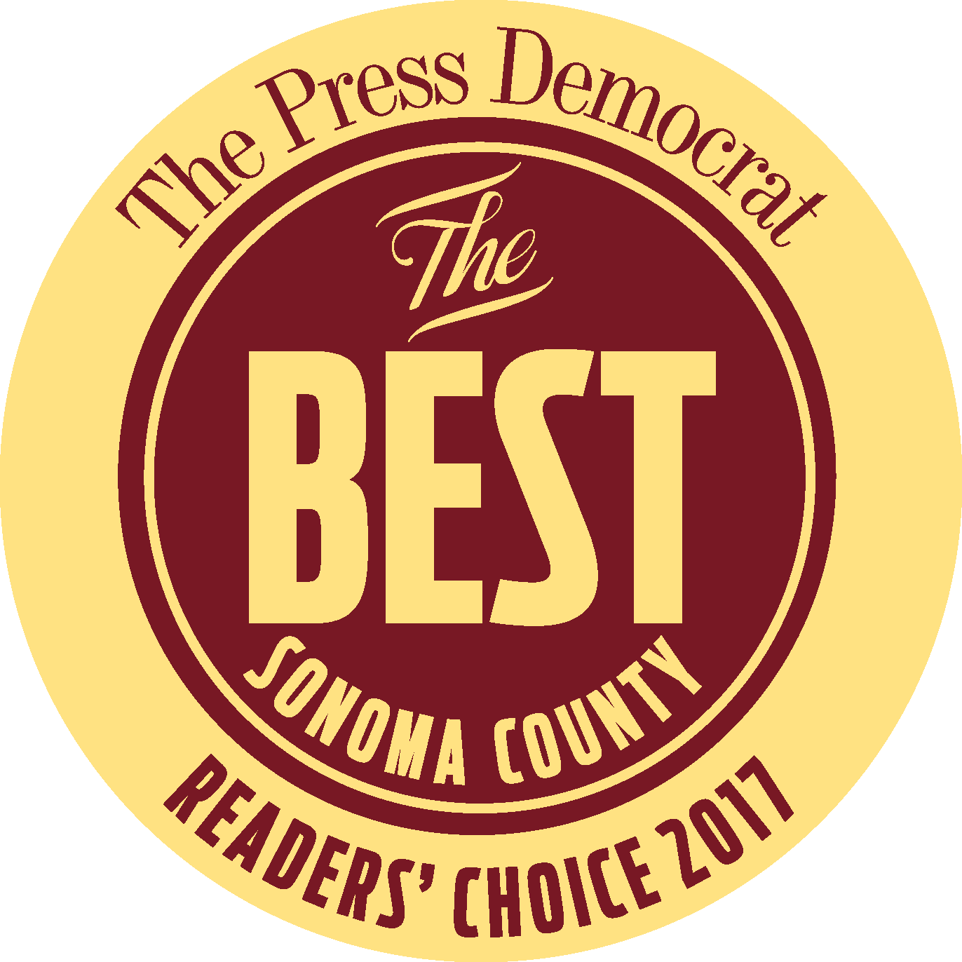 Best of Sonoma County Readers' Choice 2017 Winner