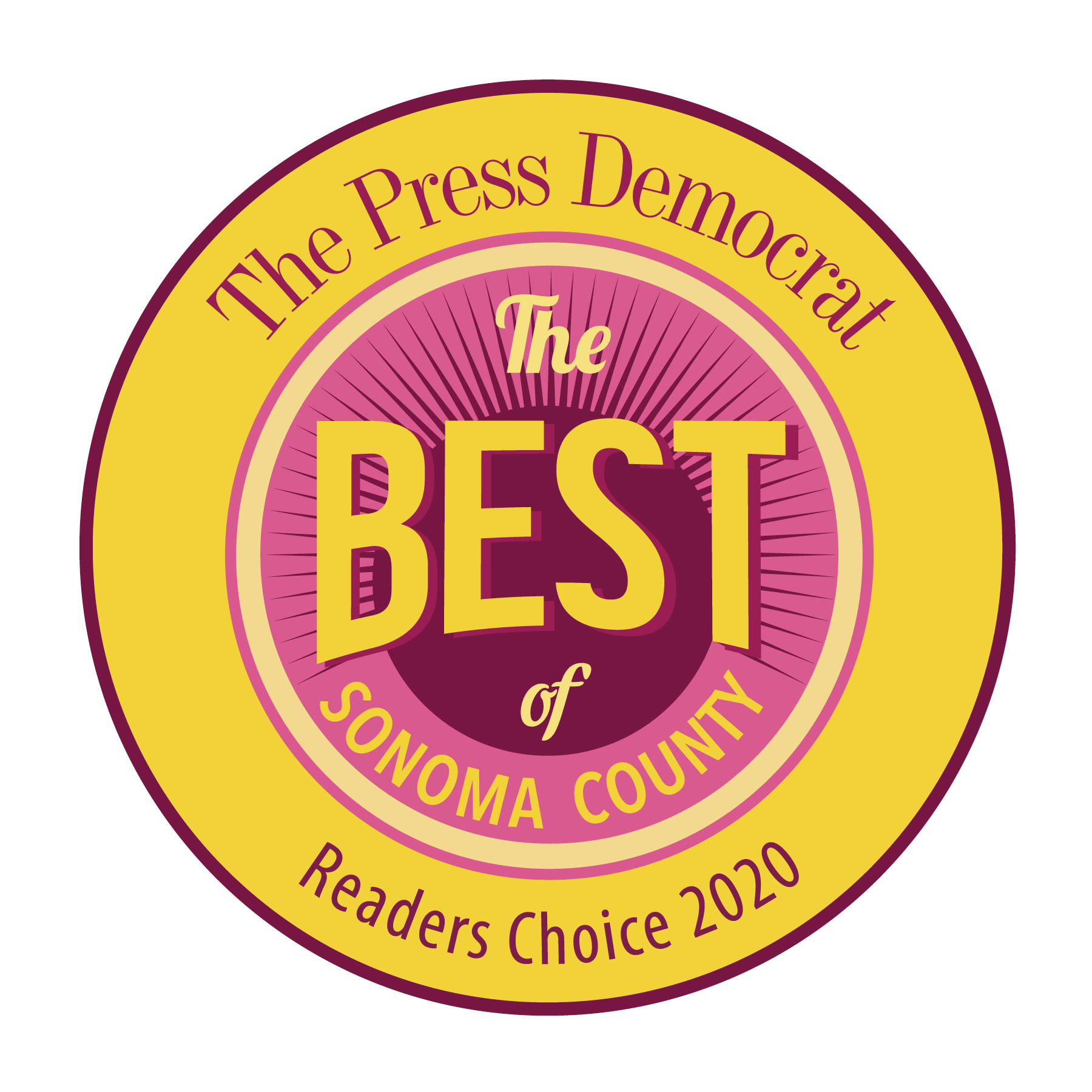 Best of Sonoma County Readers' Choice 2020 Winner